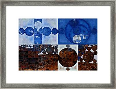 Abstract Painting - Yale Blue Framed Print by Vitaliy Gladkiy