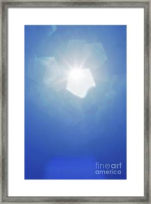 Framed Print featuring the photograph Abstract Sunlight by Atiketta Sangasaeng