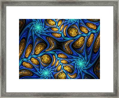 Abstract Wallpaper. Abstract Fractal. Fractal Art Background For Creative Design. Decoration For Wal Framed Print by Kristina Tyryshkina