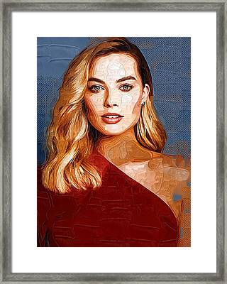 Actress Margot Robbie Framed Print by Best Actors
