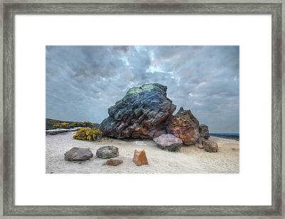 Agglestone Rock - England Framed Print by Joana Kruse