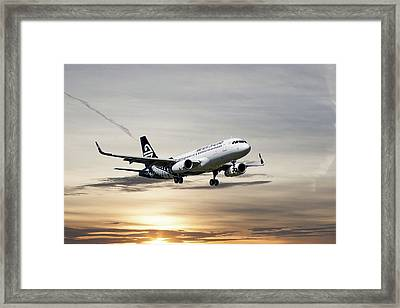 Air New Zealand Airbus A320 Framed Print