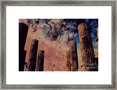 Akropolis Columns Framed Print