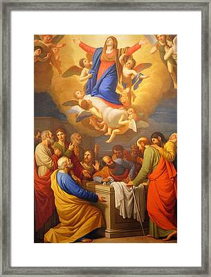 Framed Print featuring the painting Angels by Munir Alawi