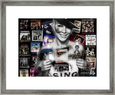 Annie Lennox Collection Framed Print by Marvin Blaine