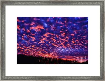 Framed Print featuring the photograph Appalachian Sunset Afterglow by Thomas R Fletcher