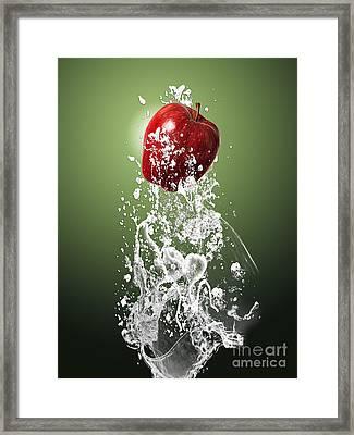 Apple Splash Framed Print by Marvin Blaine
