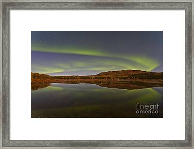Aurora Borealis Over Fish Lake, Yukon Framed Print by Jonathan Tucker