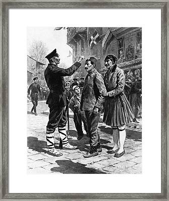Framed Print featuring the drawing Balkan War, 1912 by Granger