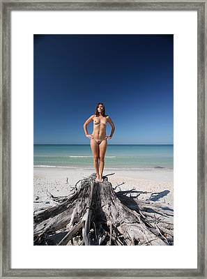 Beach Girl Framed Print