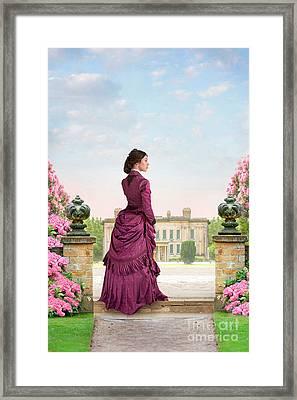 Beautiful Victorian Woman Framed Print