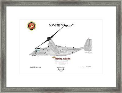 Bell Boeing Mv-22b Osprey Framed Print