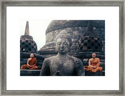 Borobudur - Java Framed Print