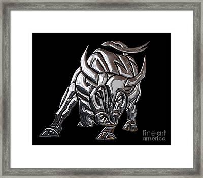 Bull Collection Framed Print