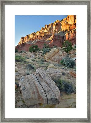 Capitol Reef Scenic Drive Framed Print by Ray Mathis