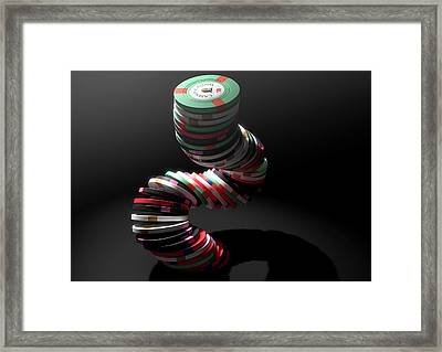 Casino Chips Framed Print by Allan Swart