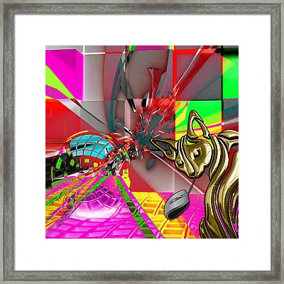 Cat And Mouse Art Collection Framed Print by Marvin Blaine