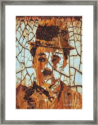 Charlie Chaplin Hollywood Legend Framed Print