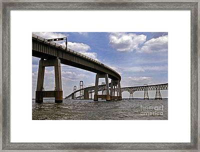 Chesapeake Bay Bridge Framed Print by Skip Willits