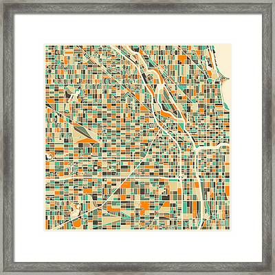 Chicago Map Framed Print