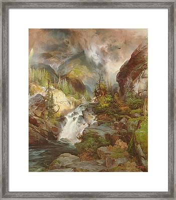 Children Of The Mountain Framed Print by Thomas Moran