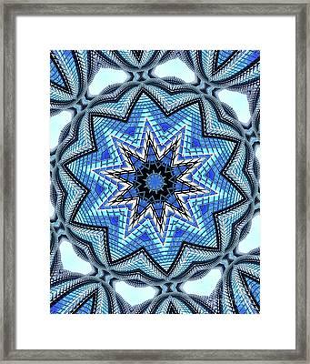 Colorful Blue Kaleidoscopic Design Framed Print