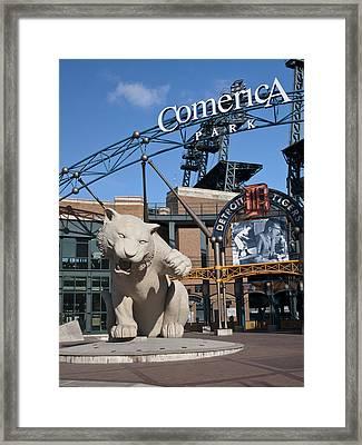 Comerica Park Framed Print by Cindy Lindow