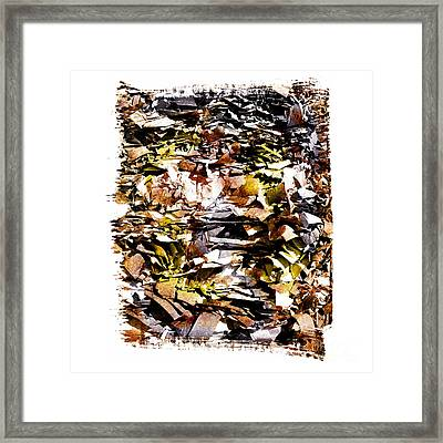 Compressed Pile Of Paper Products Framed Print