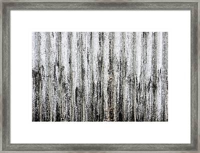 Corrugated Metal Framed Print