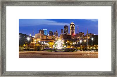 Des Moines From The State Capitol Framed Print by Twenty Two North Photography