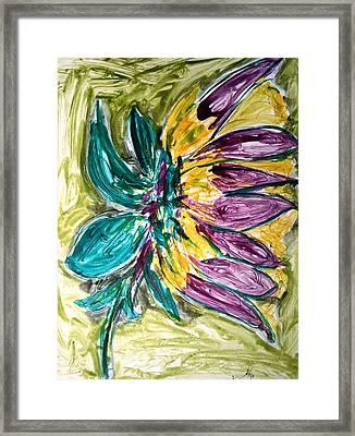 Divine Flower Framed Print by Baljit Chadha