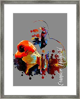 Evander Holyfield Collection Framed Print by Marvin Blaine