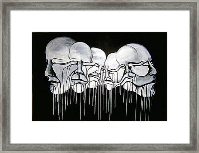 6 Faces Framed Print