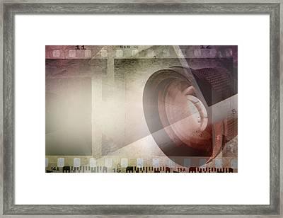 Film Frames  Framed Print by Les Cunliffe