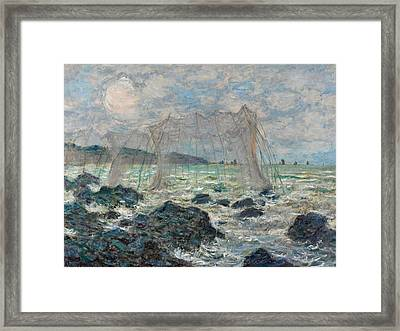 Fishing Nets At Pourville Framed Print