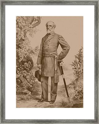 General Robert E. Lee Framed Print by War Is Hell Store