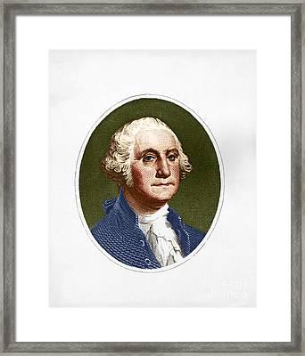 George Washington, 1st American Framed Print