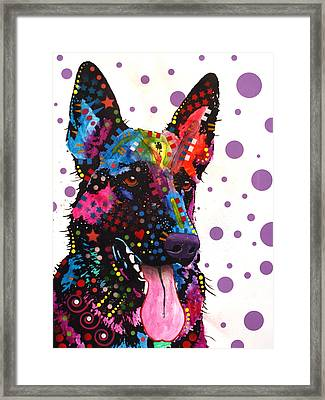 German Shepherd Framed Print by Dean Russo