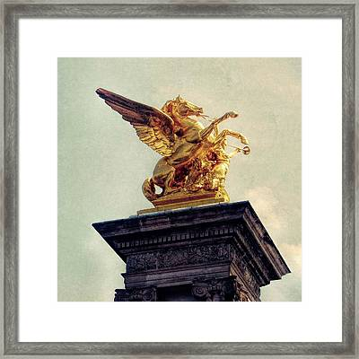 Pegasus In Paris Framed Print by JAMART Photography