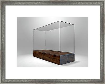 Glass Display Case Framed Print