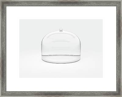 Glass Dome Display Case Framed Print