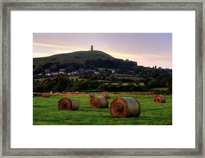 Glastonbury Tor - England Framed Print by Joana Kruse