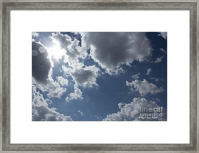 Framed Print featuring the photograph 6-gon Boken Sky by Megan Dirsa-DuBois