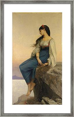 Graziella Framed Print by Jules Joseph Lefebvre