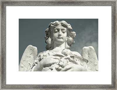 Framed Print featuring the photograph Grieving Angel by Yurix Sardinelly
