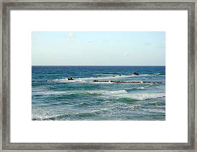 Jaffa Beach 4 Framed Print by Isam Awad