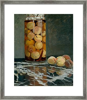 Jar Of Peaches Framed Print