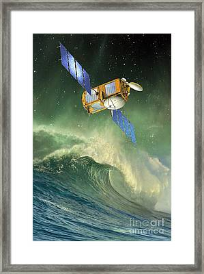 Jason-2 Satellite, Artwork Framed Print