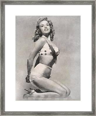 Jayne Mansfield By Frank Falcon Framed Print by Frank Falcon