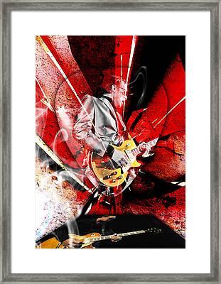 Joe Bonamassa Blues Guitarist Art. Framed Print by Marvin Blaine